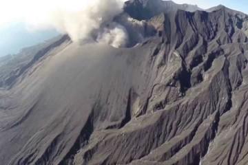 桜島上空を撮影 drone Japan Sakurajima